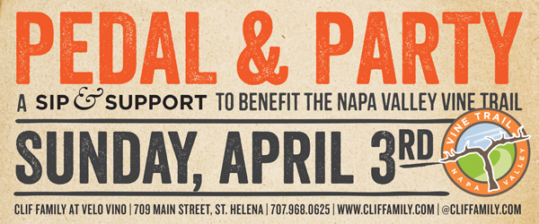 Pedal & Party: Sip & Support with Clif Family for the Napa Valley Vine Trail